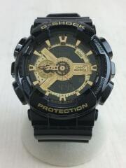 カシオ/G-SHOCK/GA-110GB/クォーツ腕時計/デジアナ/ラバー/ブラック/ゴールド