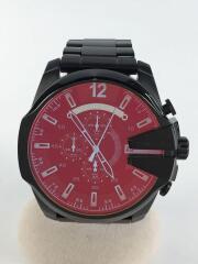 ディーゼル/クォーツ腕時計/DZ4318/アナログ/ステンレス/ブラック/ミラー/日付/クロノグラフ