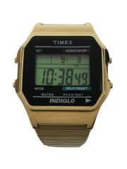 クォーツ腕時計/デジタル/GLD