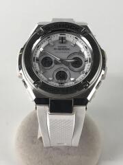 ソーラー腕時計・G-SHOCK/デジタル/ラバー/WHT/WHT