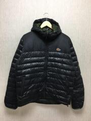 ダウンジャケット/L/ナイロン/ブラック/LF8110700