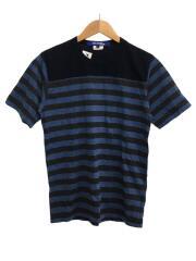 Tシャツ/S/コットン/NVY/ボーダー