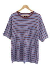 21SS/Griffin Stripe Crew/Tシャツ/XL/コットン/ブルー/ボーダー/1140235