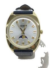 クォーツ腕時計/アナログ/--/GLD/NVY