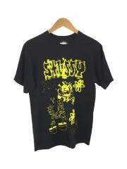 Tシャツ/M/コットン/BLK/総柄