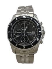 PROSPEX/クロノグラフ/7T62-0DT0/クォーツ腕時計/アナログ/ステンレス/BLK