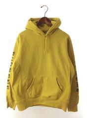 シュプリーム/18AW/Gradient Sleeve Hooded Sweatshirt/M/コットン/YLW