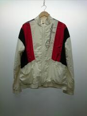 Reverse Weave White Nylon Track Jacket/ナイロンジャケット/L/ホワイト
