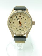 クォーツ腕時計/アナログ/ナイロン/BEG/KHK/フィールドウォッシ/タイメックス