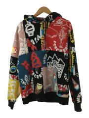 COLLECTION PATCHWORK HOODIE/パーカー/L/コットン/総柄