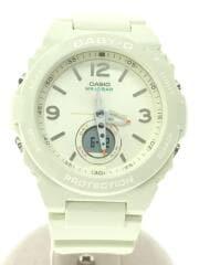 クォーツ腕時計・Baby-G/デジアナ/WHT/WHT