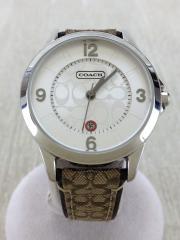 腕時計/アナログ/キャンバス/WHT/BEG