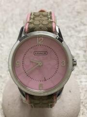 クォーツ腕時計/アナログ/レザー/PNK/PNK/CA.13.7.14.0614